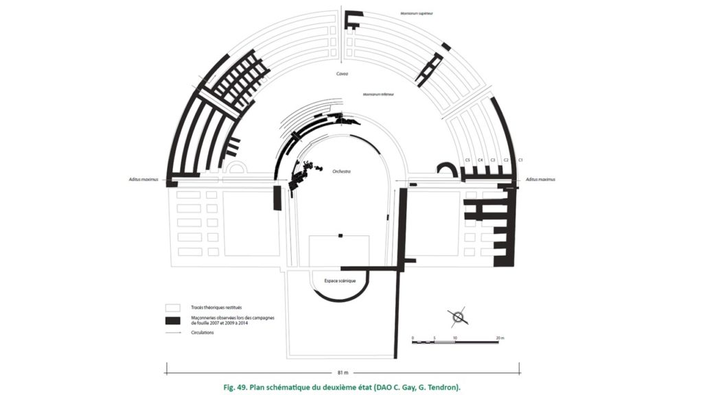 Plan de la seconde phase du théâtre