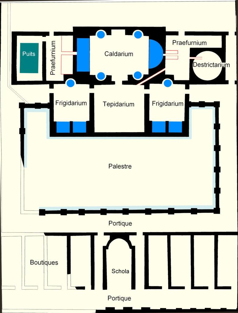 Plan des thermes - Site du Fâ