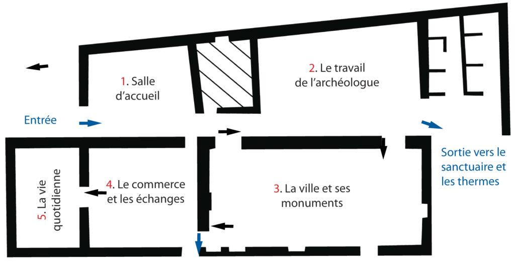 Plan du musée - Site du Fâ